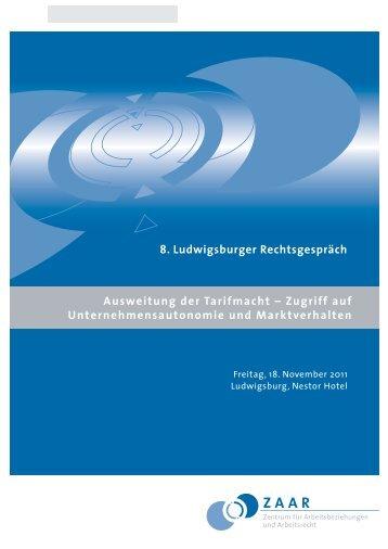 Ausweitung der Tarifmacht - ZAAR - Ludwig-Maximilians-Universität ...