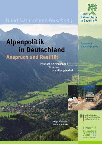 Alpenpolitik in Deutschland - Bund Naturschutz in Bayern eV