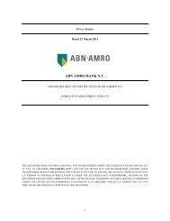 ABN AMRO BANK N.V. - Iex