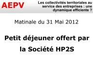 Présentation HP2S - Aepv