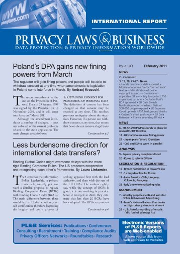 Newsletter Sample   Privacy Laws  Business