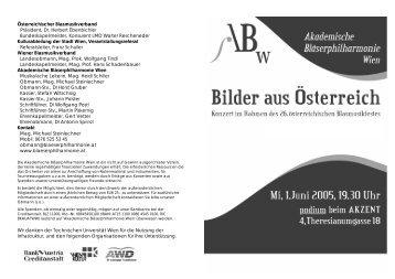 Österreichischer Blasmusikverband Präsident, Dr. Herbert ...