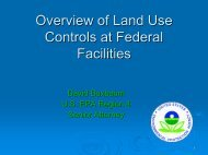 Overview of Land Use Controls at Federal Facilities
