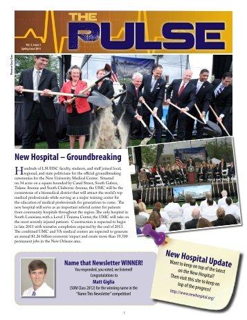 New Hospital - School of Medicine - LSU Health Sciences Center ...