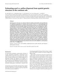Estimating seed vs. pollen dispersal from spatial genetic structure in ...