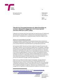 Yttrande över Europaparlamentets och rådets ... - Trafikanalys