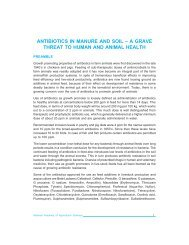antibiotics in manure and soil - National Academy of Agricultural ...