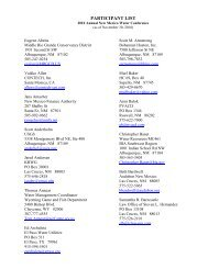 Participant List - New Mexico Water Resources Research Institute ...