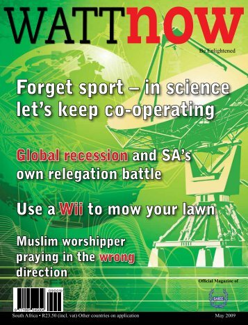 download a PDF of the full May 2009 issue - Watt Now Magazine