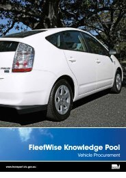 Fleetwise Knowledge Pool Vehicle Procurement - Department of ...