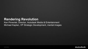 "Rendering Revolution"" presentation - Area - Autodesk"