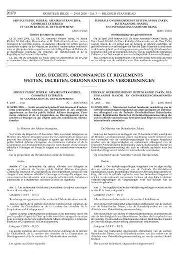 lois, decrets, ordonnances et reglements wetten ... - tax-advisers.be