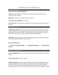 OCTH 6260-Spring- Assessment Rating Form