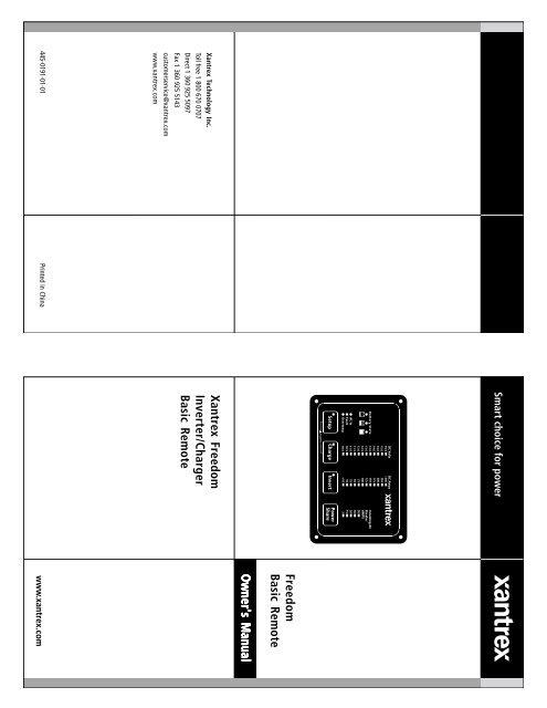 xantrex freedom inverter manual