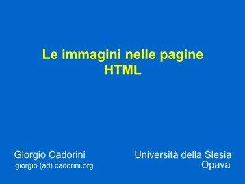 Le immagini nelle pagine HTML