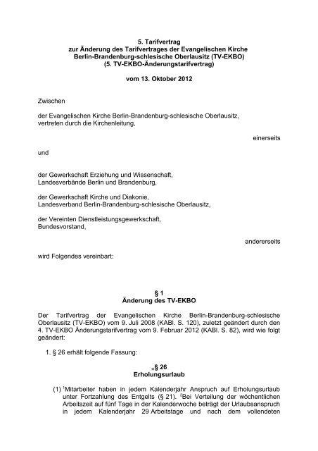 TV-EKBO - GKD - Gewerkschaft Kirche und Diakonie