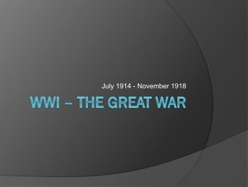 Download WWI – The Great War