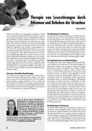 Therapie von Lesestörungen durch Erkennen und ... - Celeco