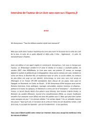 Interview de l'auteur de Le Livre sans nom sur L ... - Le Livre de Poche