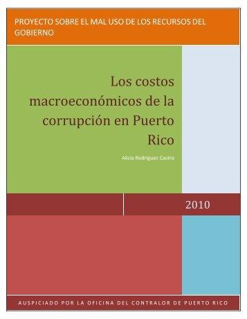 Los costos macroeconómicos de la corrupción en Puerto Rico