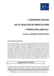 cuestiones legales en la tasacion de obras de arte y peritación judicial