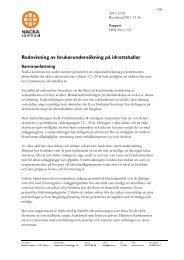 Redovisning av brukarundersökning på idrottshallar - Nacka kommun