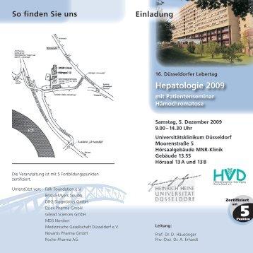 Hepatologie 2009 - Hämochromatose-Vereinigung Deutschland eV