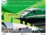 West Toronto Diamond – Delivery Alternatives - SCAV-CSVA
