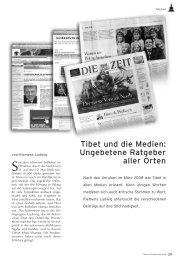 Tibet und die Medien: Ungebetene Ratgeber aller Orten