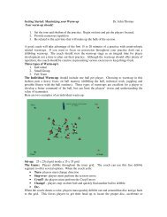 Getting Started: Maximizing your Warm-up Dr ... - US Youth Soccer