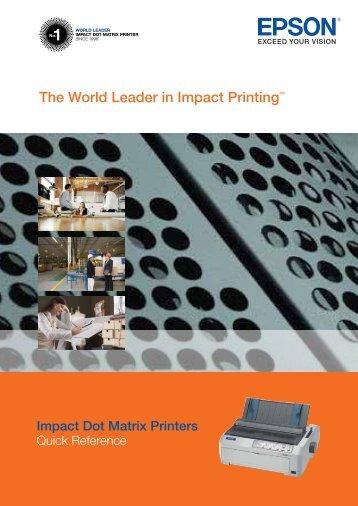 The World Leader in Impact PrintingTM - Epson Australia