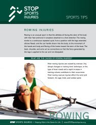 ROWING - STOP Sports Injuries