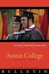 Bulletin 2007-2008 - Austin College