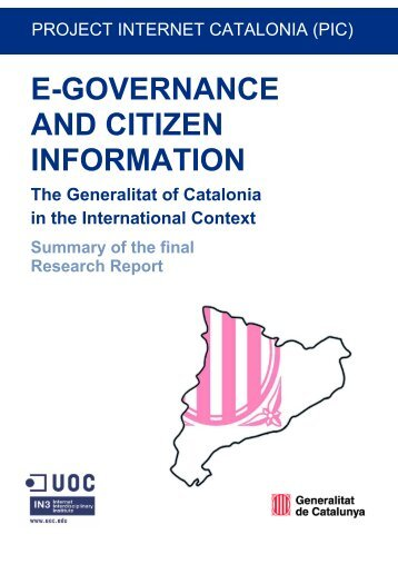 e-governance and citizen information - Universitat Oberta de ...