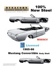 Dynacorn M1629 1968-1972 Nova Roof Drip Molding Kit
