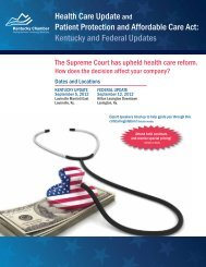 Kentucky and Federal Updates Health Care Update and Patient ...