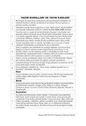 Yayın İlkeleri - KASTAMONU EĞİTİM DERGİSİ