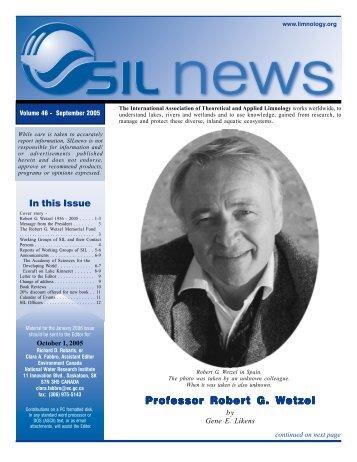 Professor Robert G. Wetzel - SIL