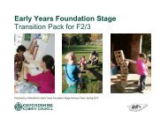 Early Years Foundation Stage Transition Pack for F2/3 - Oxfordshire ...