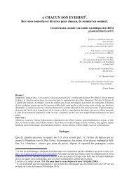 A CHACUN SON EVEREST . - Publications de la SMF