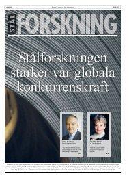 Stålforskningen stärker vår globala konkurrenskraft - Jernkontoret