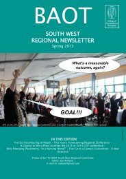 BAOT South West Regional spring newsletter - College of ...