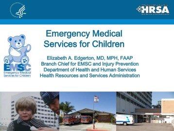 Emergency Medical Services for Children - NHTSA EMS