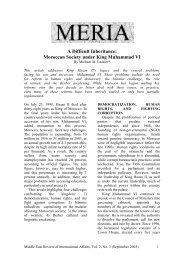 A Difficult Inheritance: Moroccan Society under ... - GLORIA Center