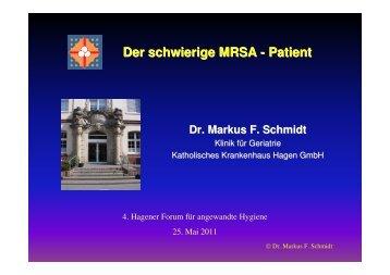 Der schwierige MRSA-Patient (z.B. bei Demenz o - Hagen