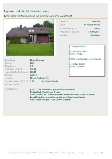 Exposé und Detailinformationen - pavillion immobilien ...