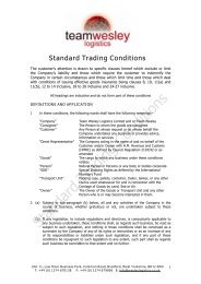 STANDARD TRADING CONDITIONS