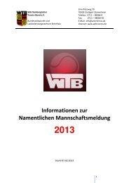 Informationen zur Namentlichen Mannschaftsmeldung - WTB