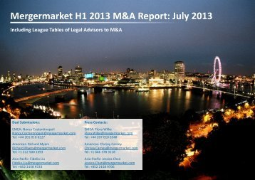 Mergermarket H1 2013 M&A Report: July 2013