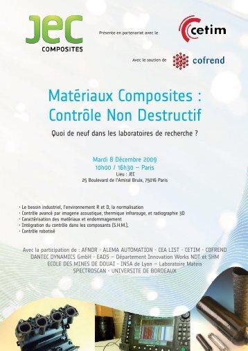 Matériaux Composites : Contrôle Non Destructif - Cetim